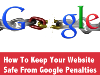Prevention of Google penalty