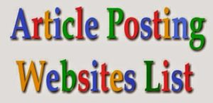 Free Article submission sites lists for SEO