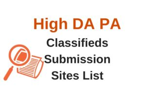 Classified Submission Websites List