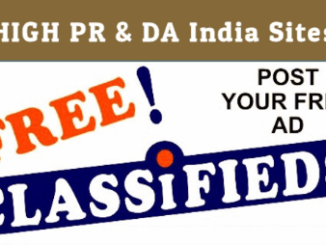 Free Classified Submission Sites list In India 2019