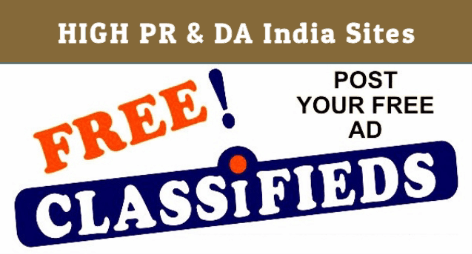 150+ High PR Dofollow Free Classified Submission Sites List for India